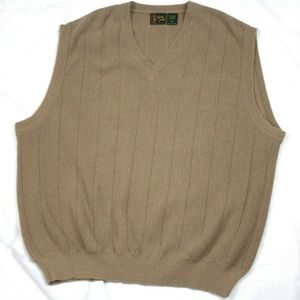 Bobby Jones Mens V-Neck Sweater Baby Alpaca Sweate